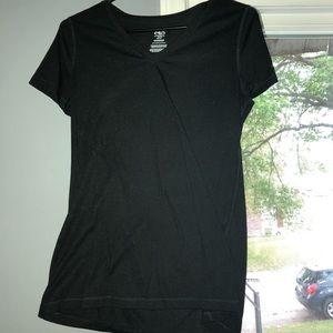 Black shirt sleeve shirt